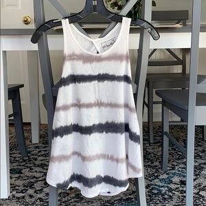 Free people tie dyed open back tank top size small